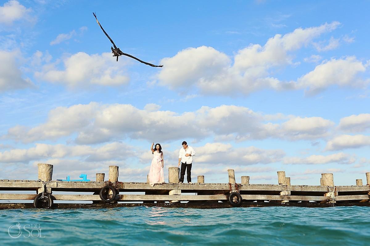 Bride and groom trash the dress shoot Riviera Maya, Puerto Morelos