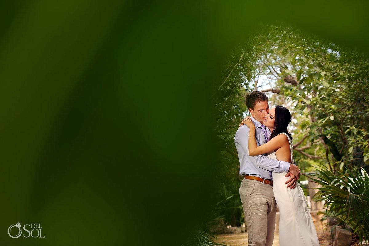 Jungle trash the dress bride and groom