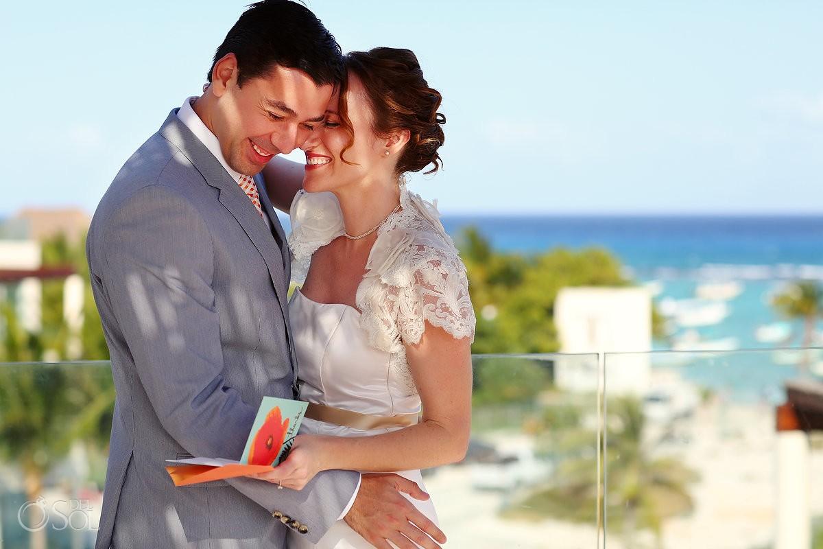 Playa del Carmen bride and groom