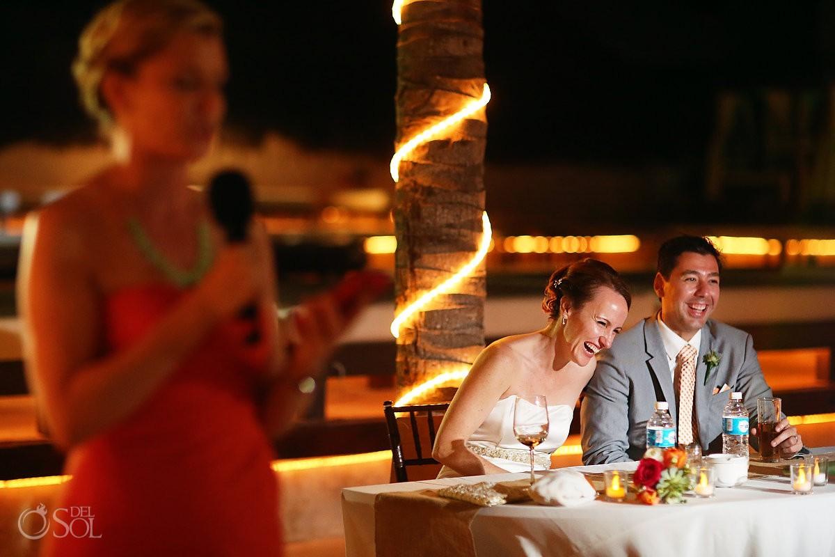 Playa del Carmen Kool Beach Club wedding reception
