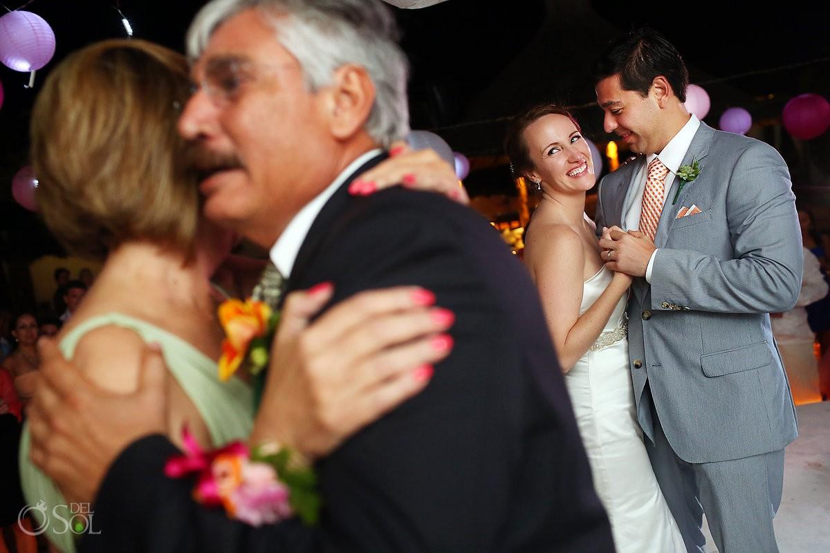 Kool Beach Club wedding reception bride and groom dance
