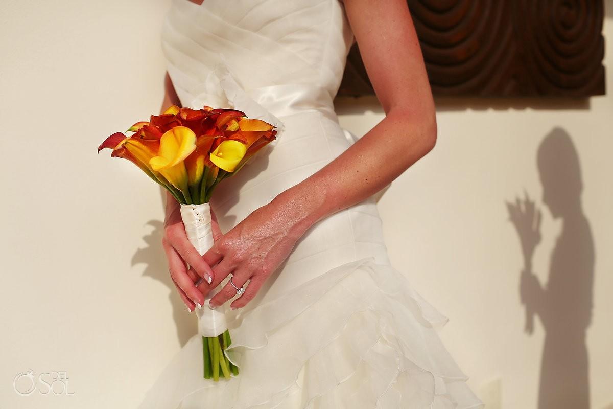 Bright color bridal bouquet Destination Wedding Now Jade