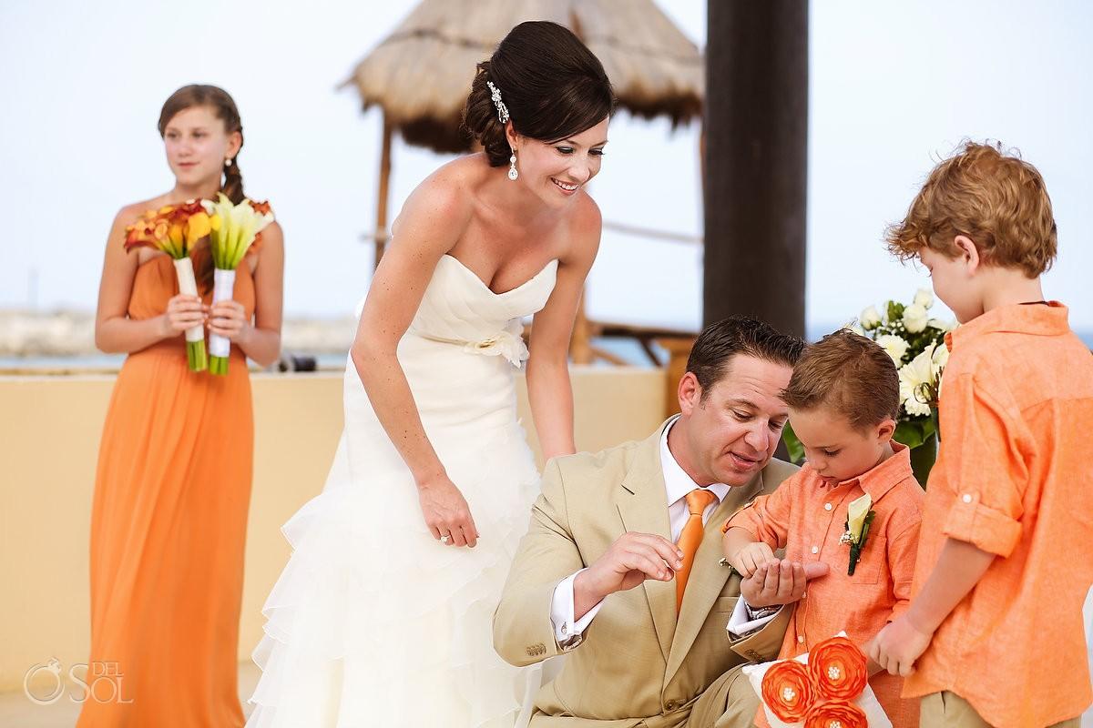 Family bridal party Riviera Maya