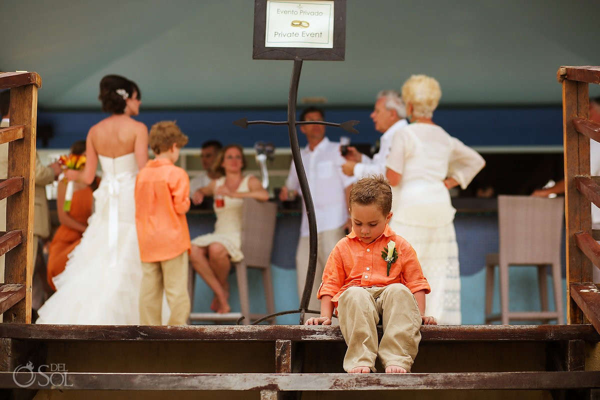 Riviera Maya wedding ring bearer boy