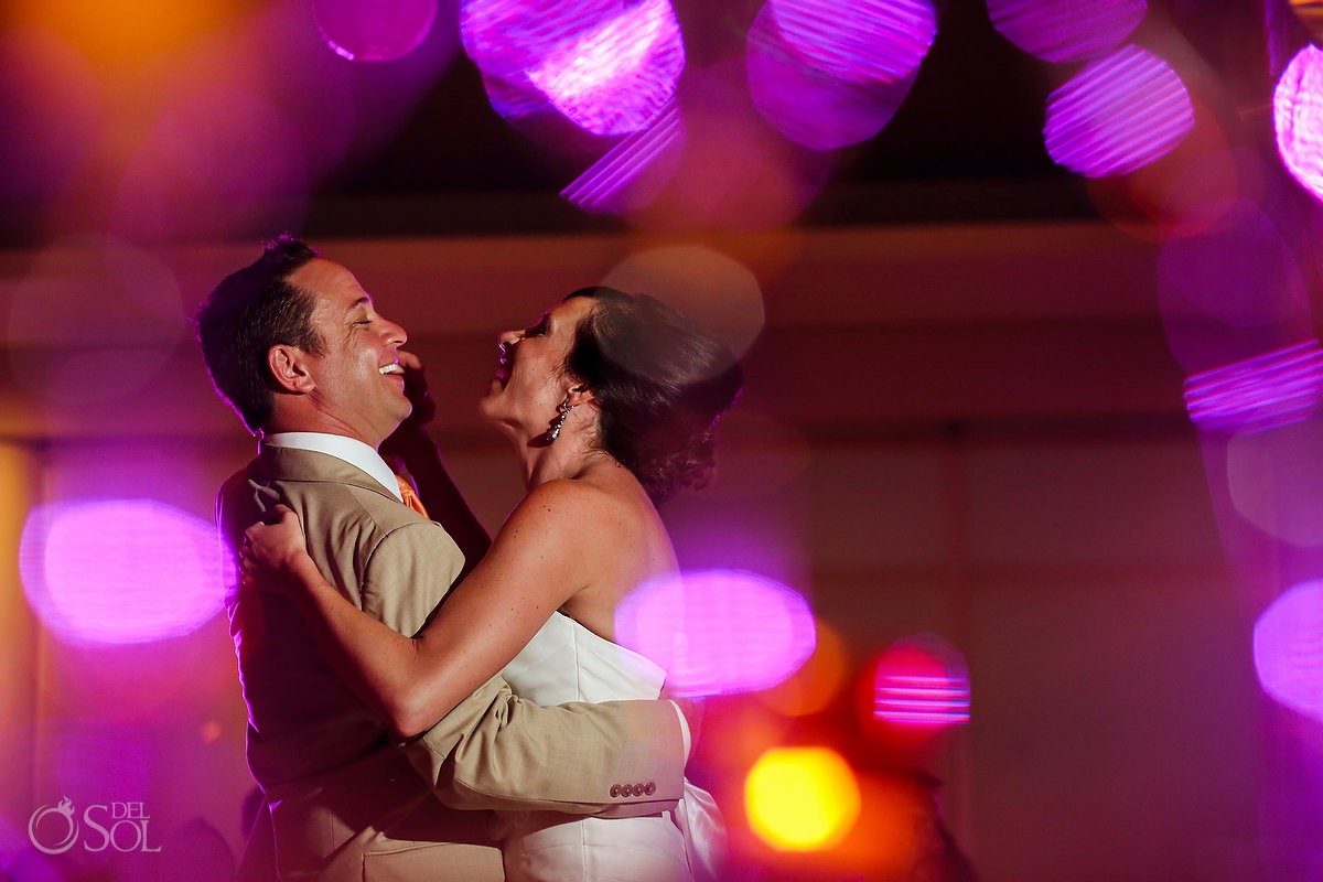 Wedding reception Now Jade Riviera Maya bride and groom dance