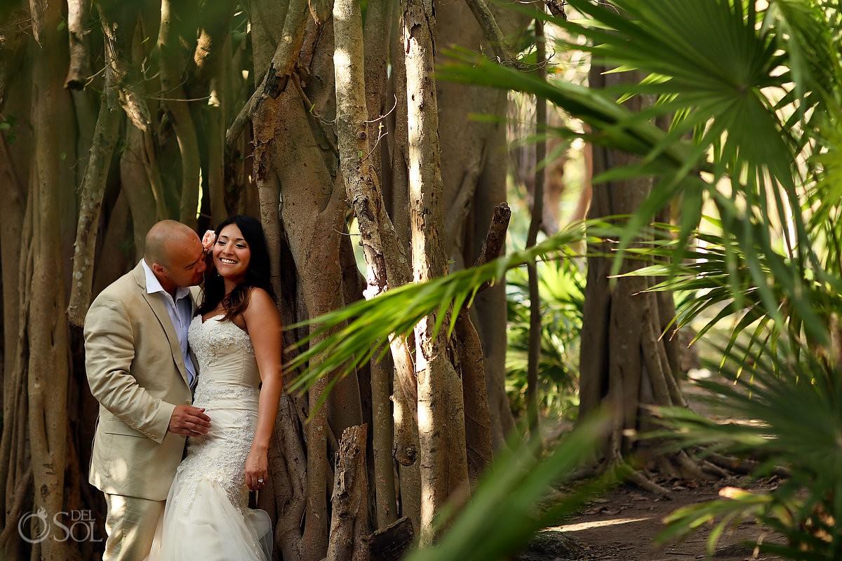 Jungle Playa del Carmen newlyweds