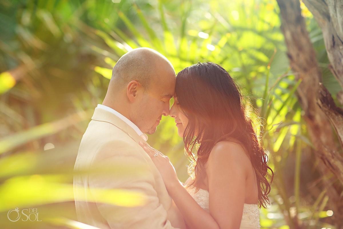 Bride and groom jungle love