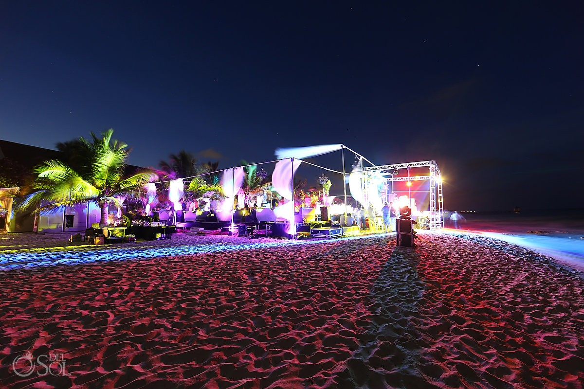 Beach wedding set up at Le Reve exclusive hotel Riviera Maya