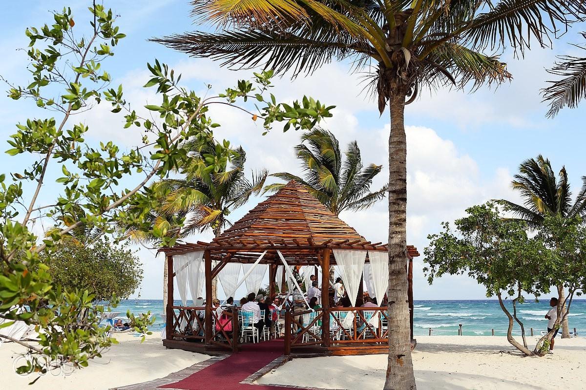 Grand Sunset Princess gazebo wedding Mexican Caribben