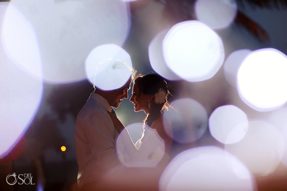Riviera Maya wedding bride and groom smile