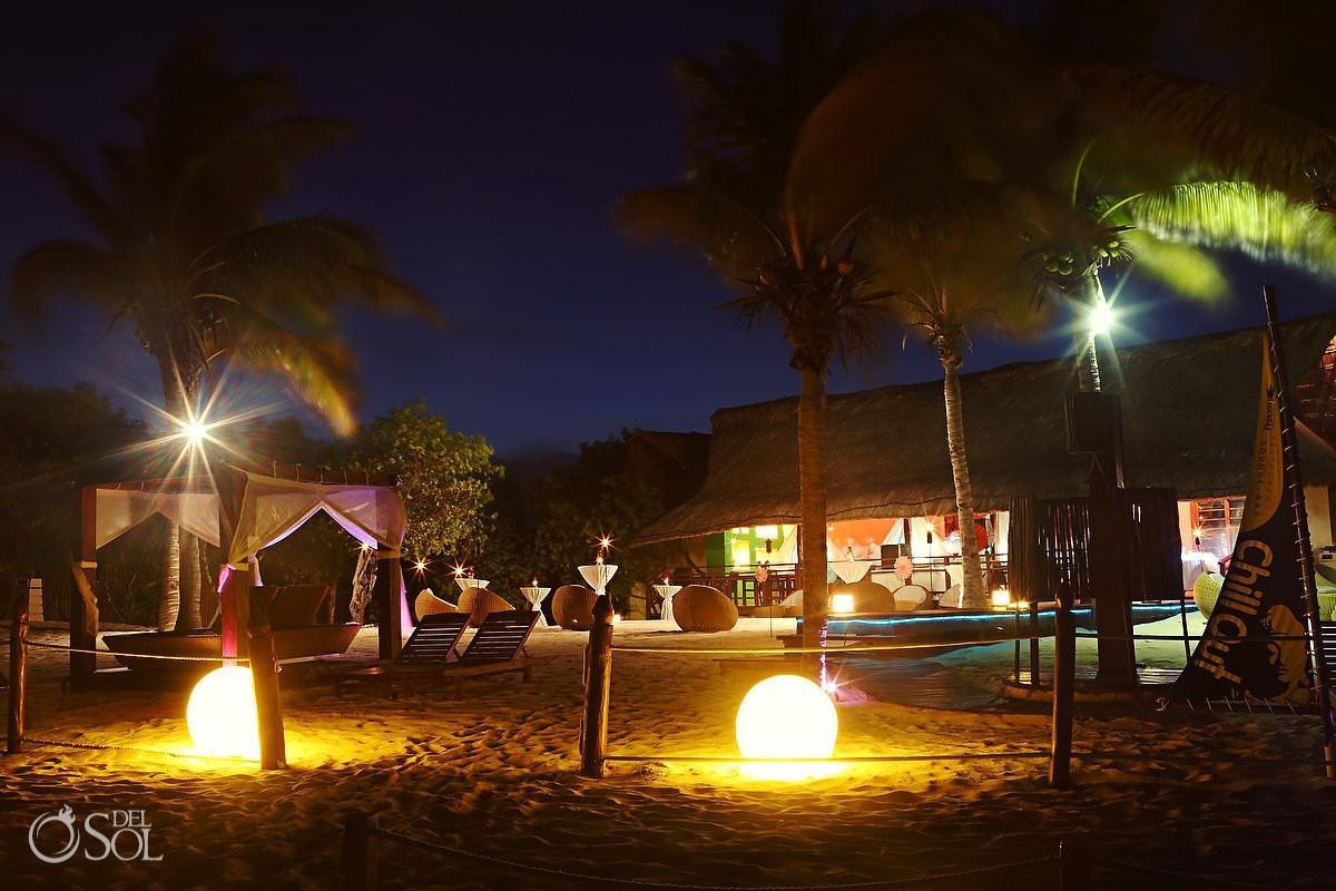 Night on the beach at a destination wedding at Grand Sunset Princess