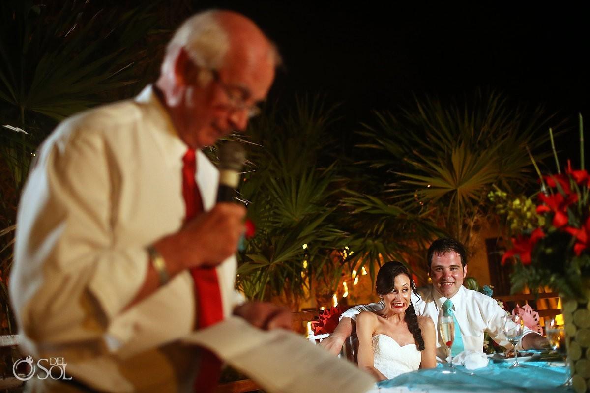Mexico wedding reception toast