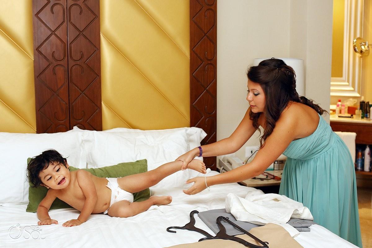 Wedding toddler in Cancun