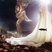 underwater wedding adam and eve trash the dress