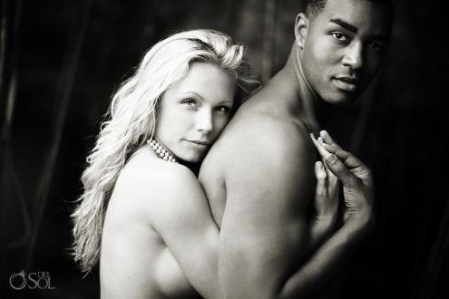 mixed racial couple Portrait