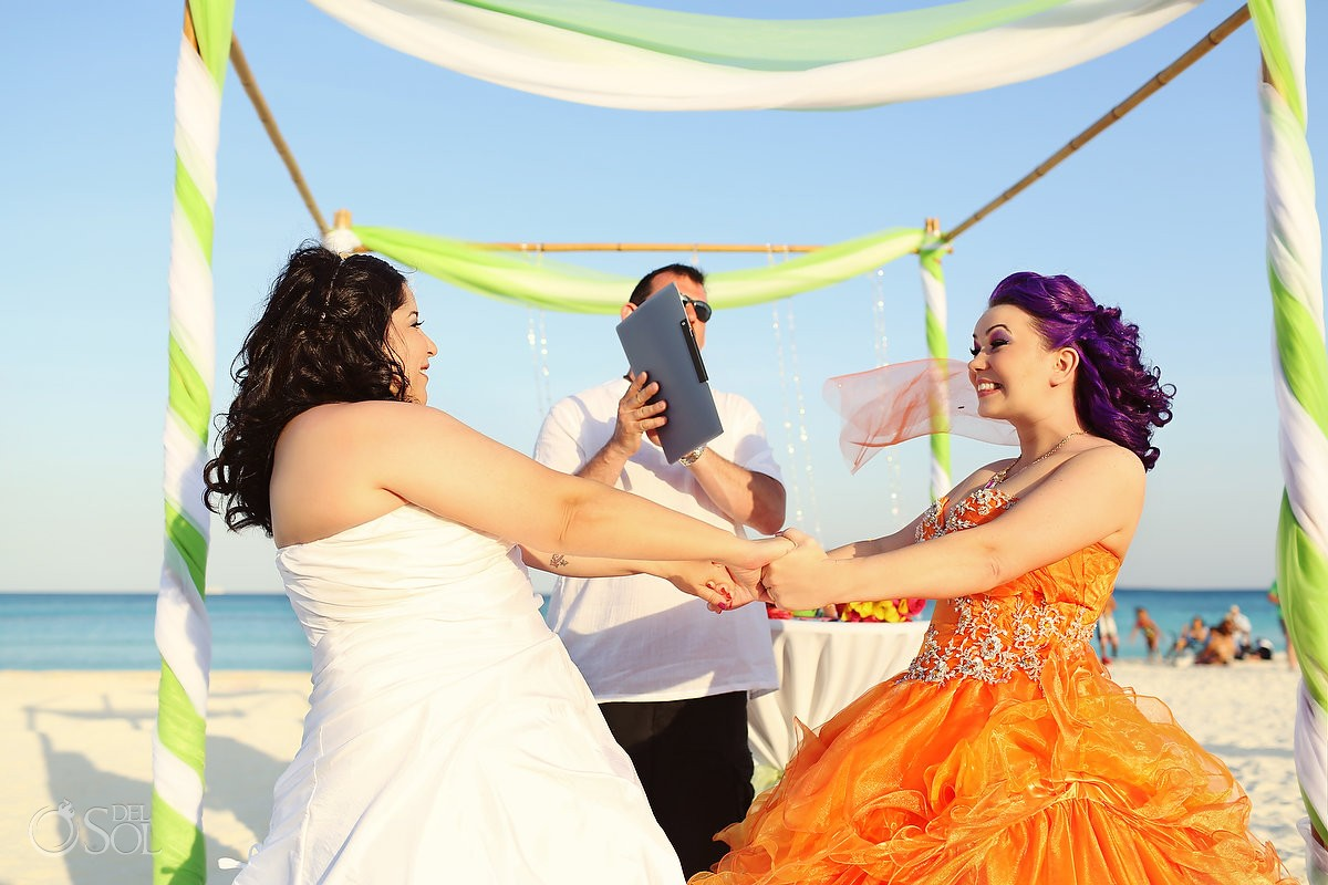 Same-sex wedding Playa del Carmen Mexico