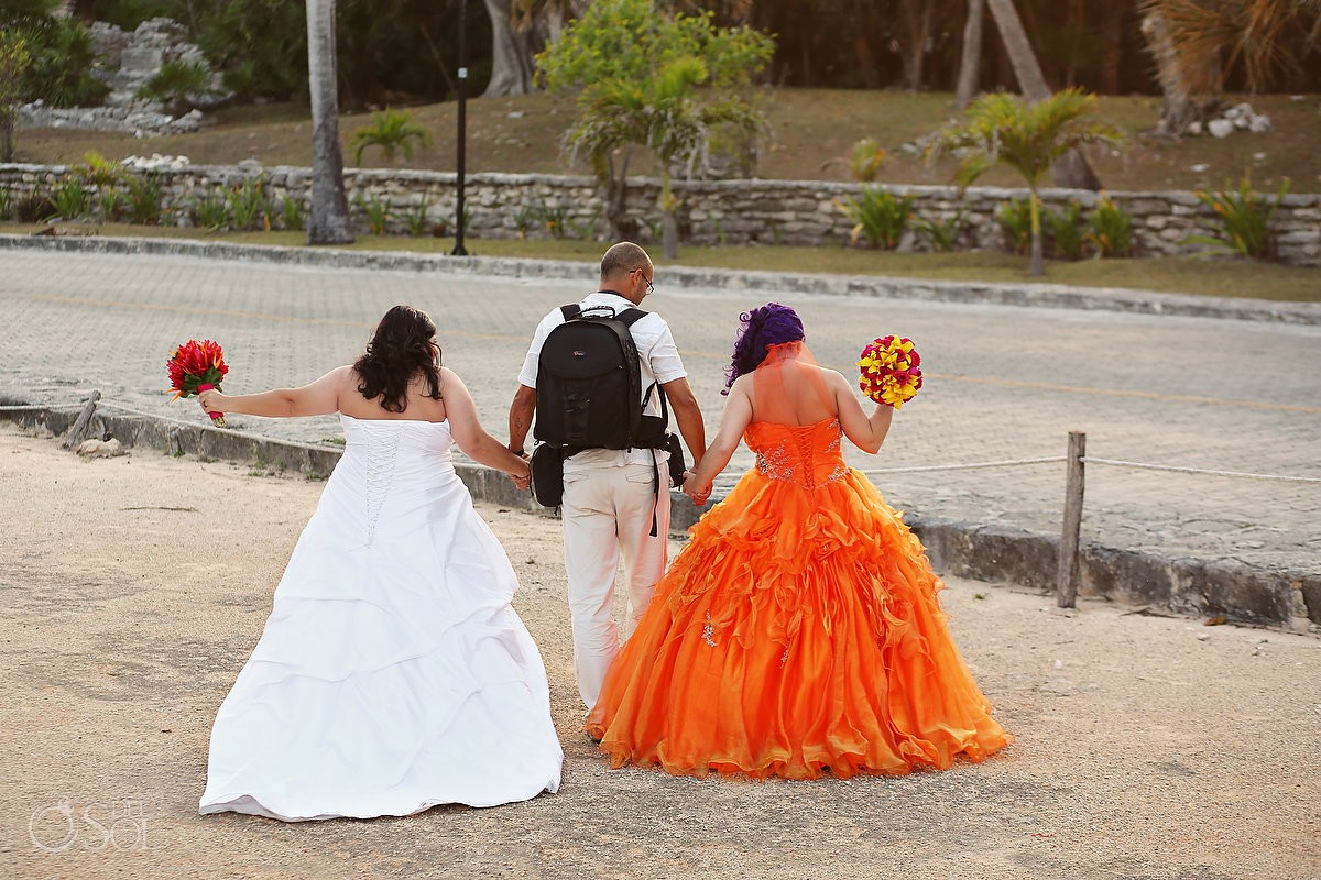Same-sex wedding Playa del Carmen Mexico