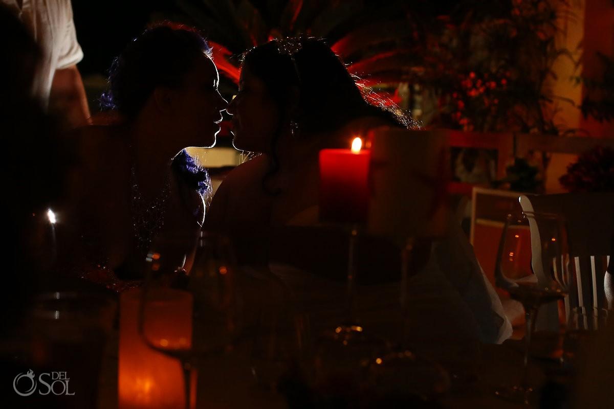 Lesbian wedding Playa del Carmen Mexico