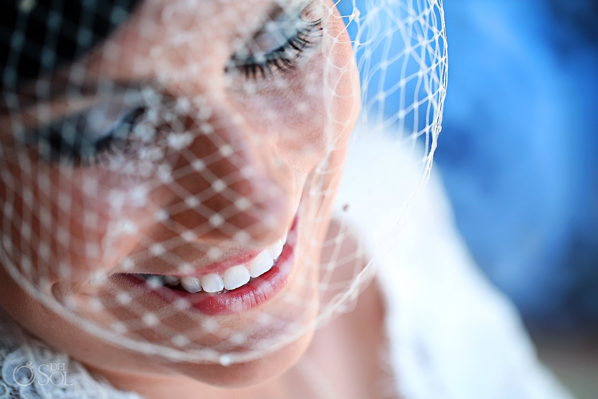 Destination wedding bride veil