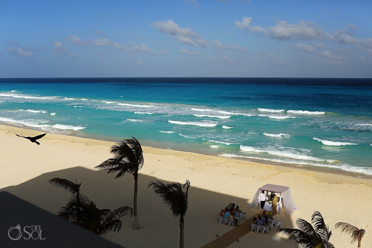 View of Caribbean Sea in Cancun Gran Caribe Real