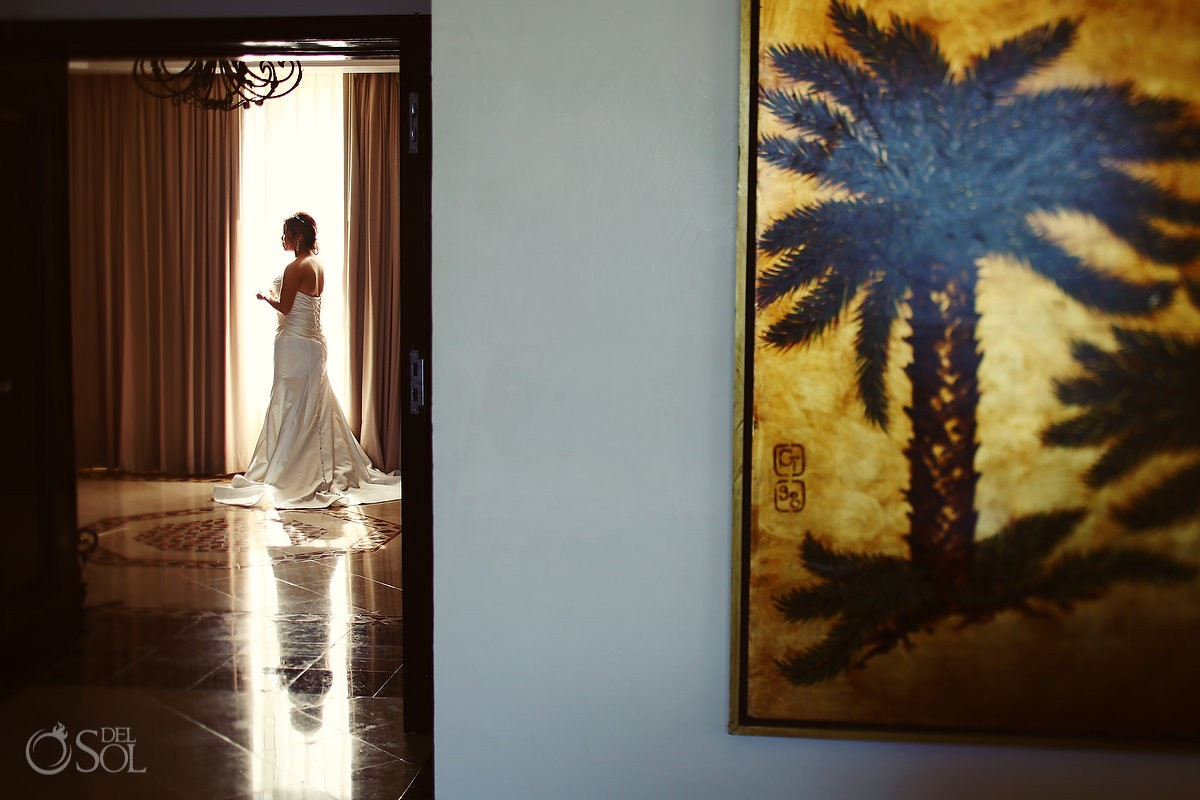 Cancun bride Moon Palace wedding