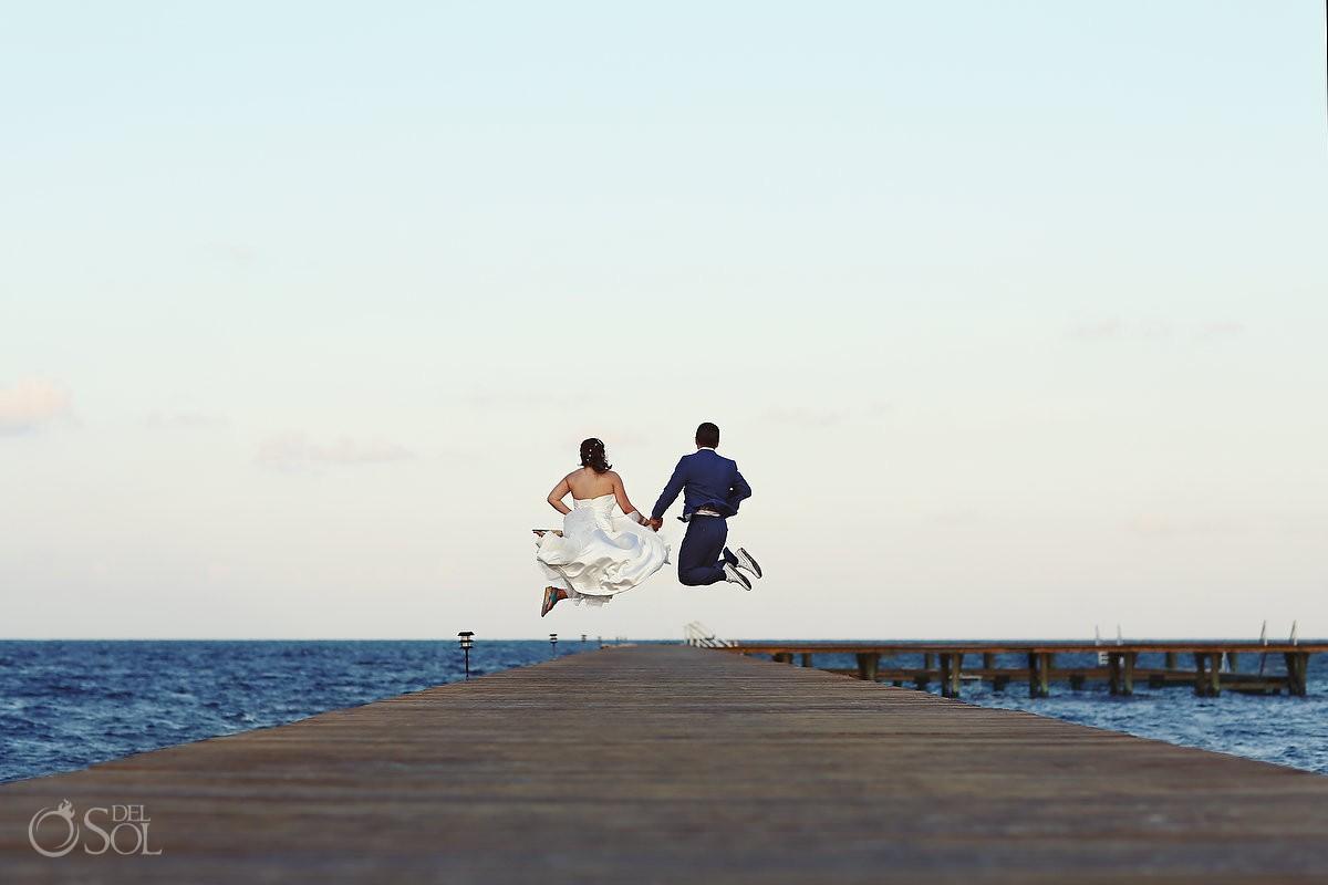 Wedding Moon Palace Resort beach pier