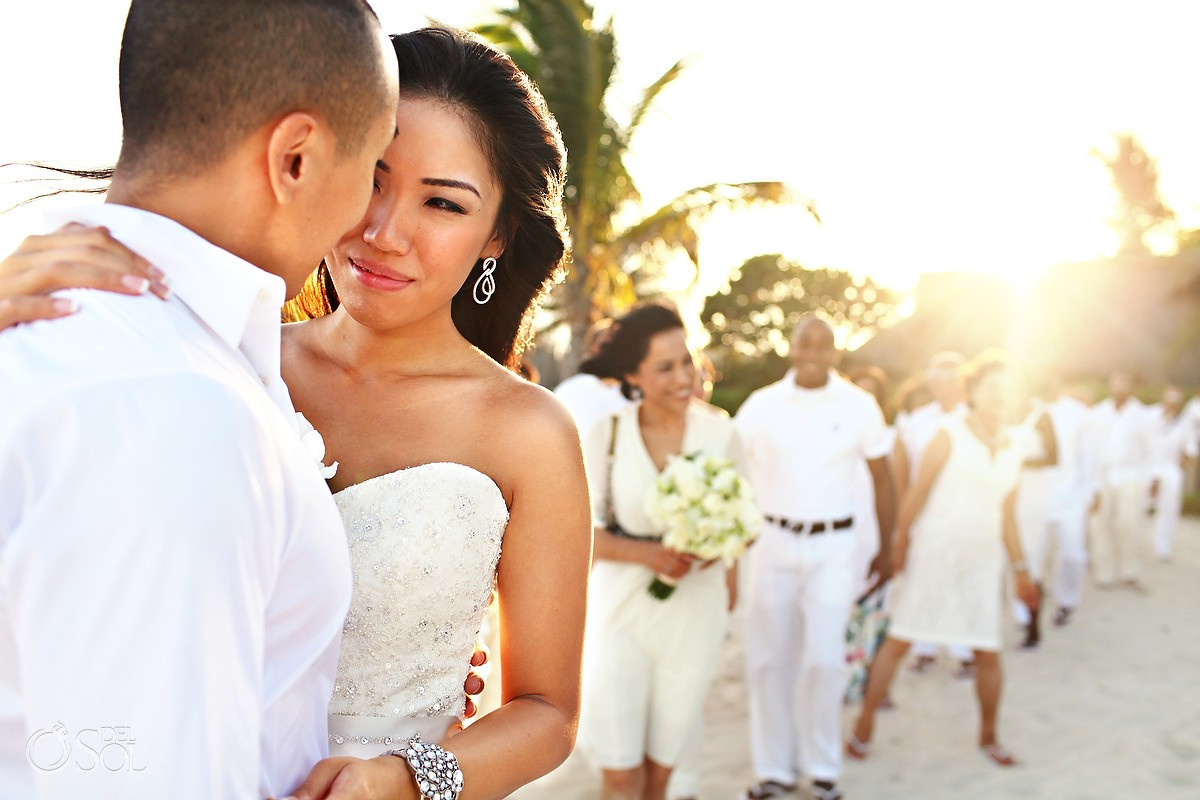 Beach wedding Le Reve Playa del Carmen
