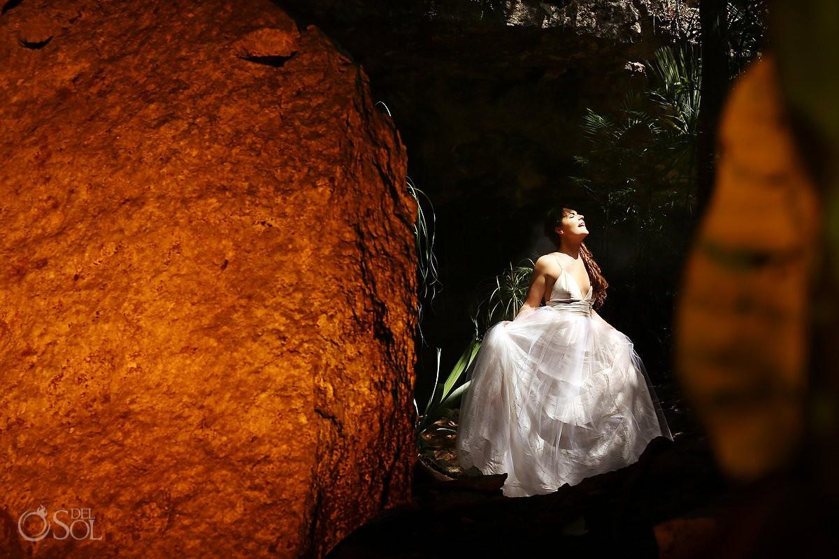 Trash the dress cenote photography wedding