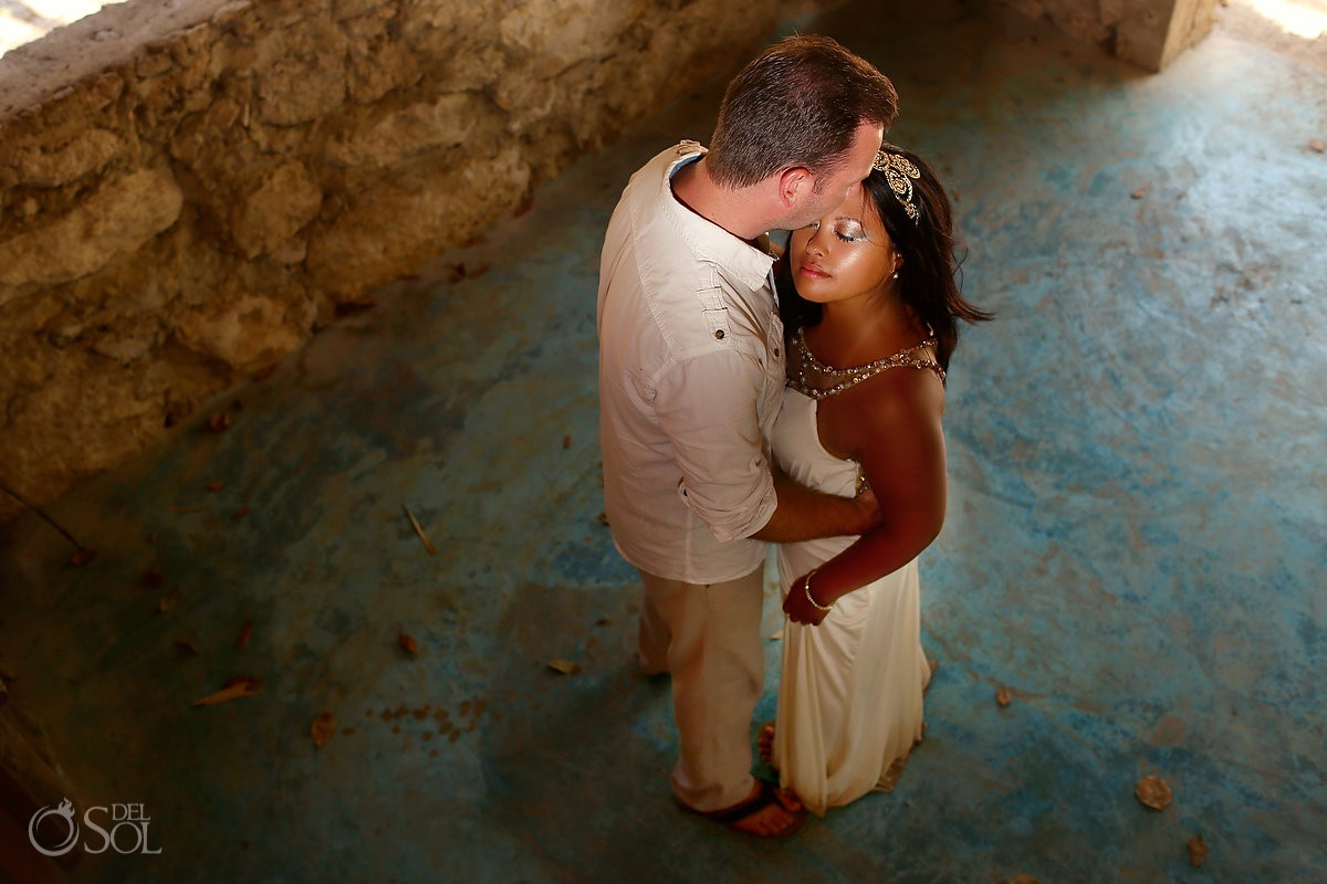 Riviera Maya bride and groom cenote