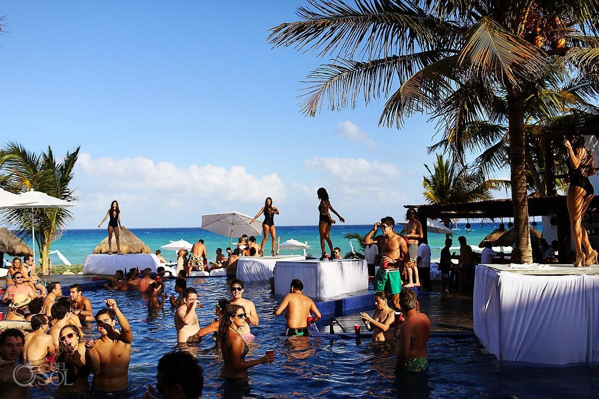 Hot Pre Wedding Pool Party Playa Del Carmen Adri And Beto