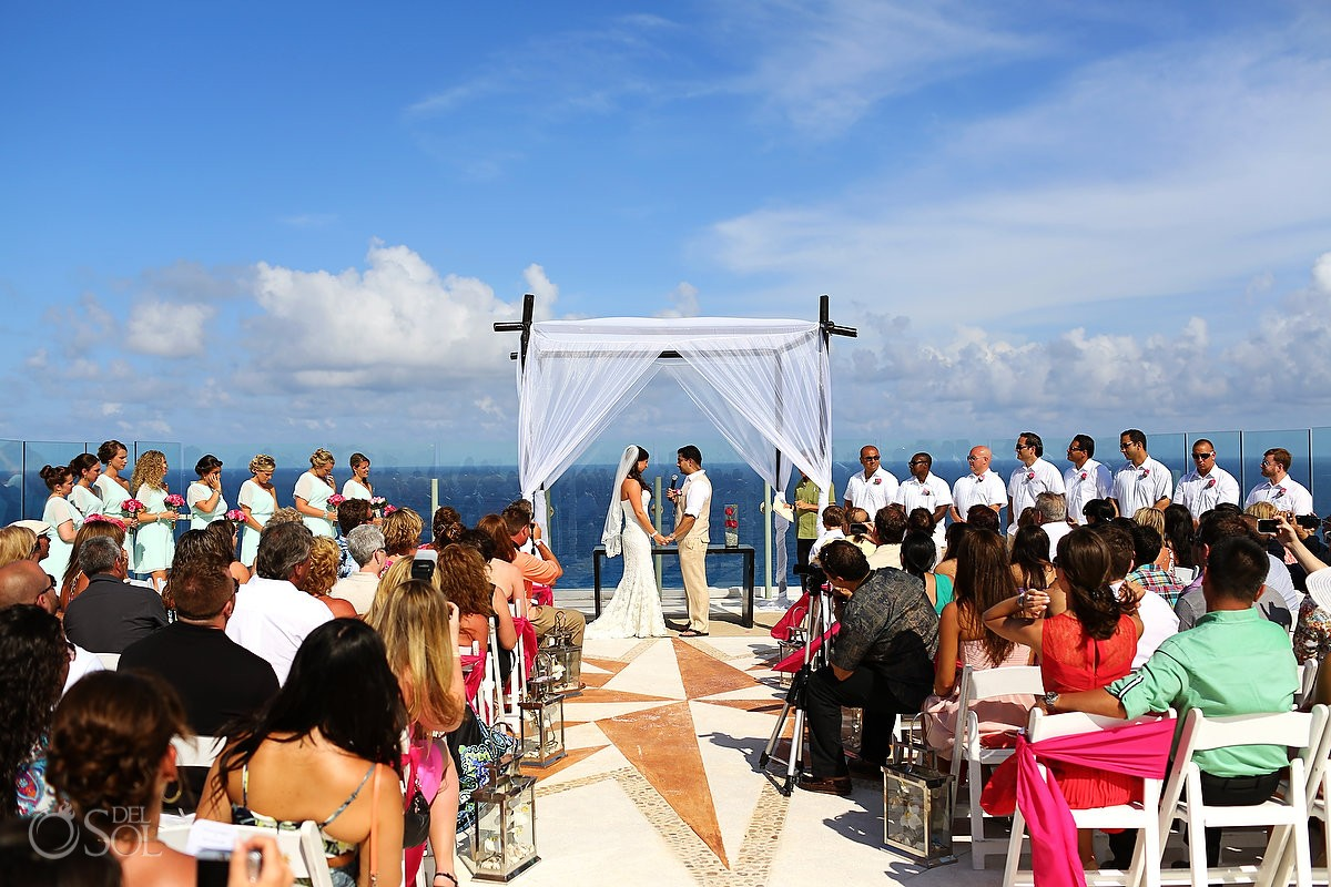 Cancun Destination Wedding Beach Palace Breanna And Rishi