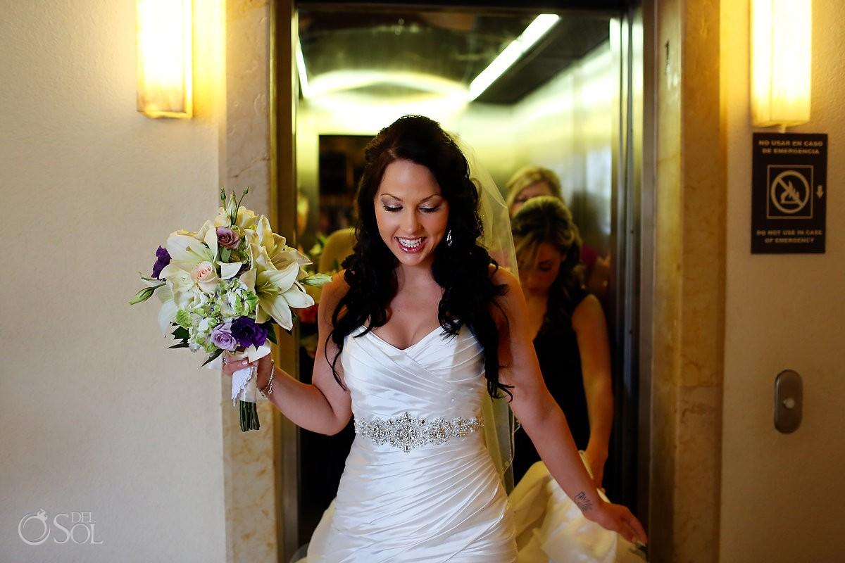 Bride destination wedding Dreams Riviera Cancun Mexico