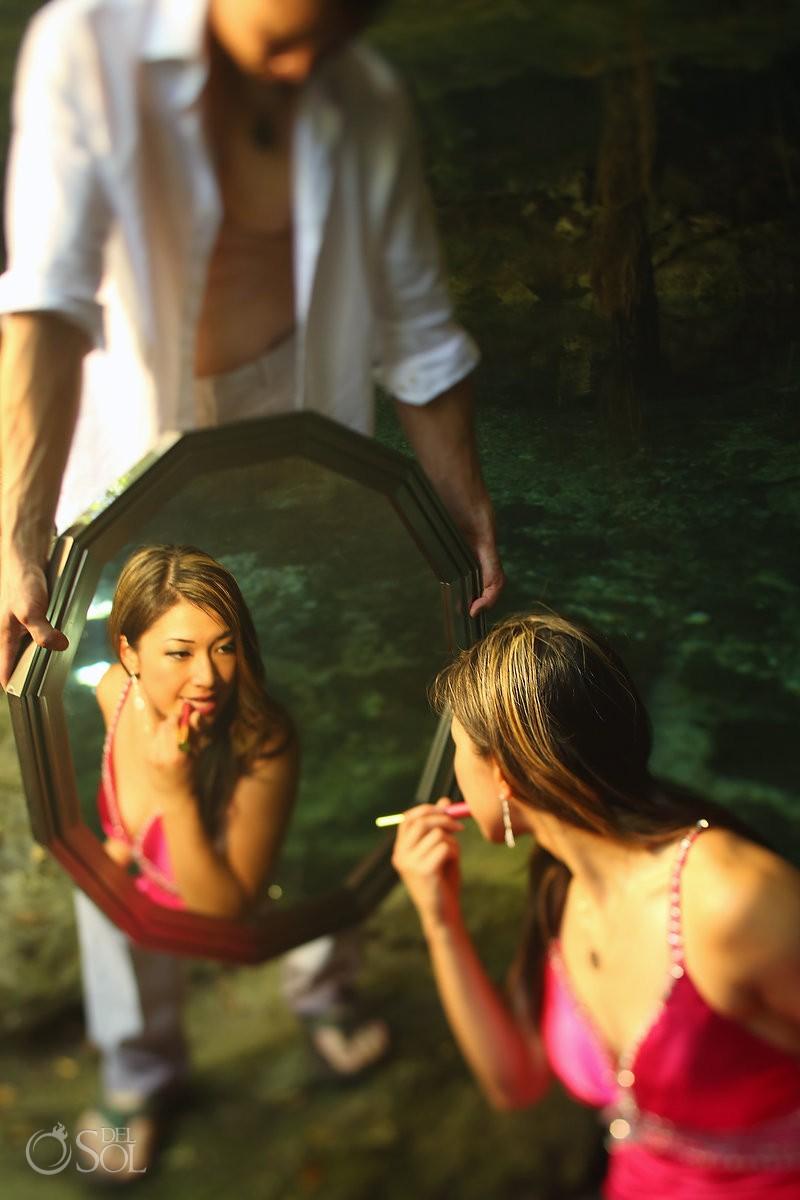Riviera Maya photography cenote trash the dress