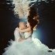 Riviera Maya photography underwater trash the dress cenote