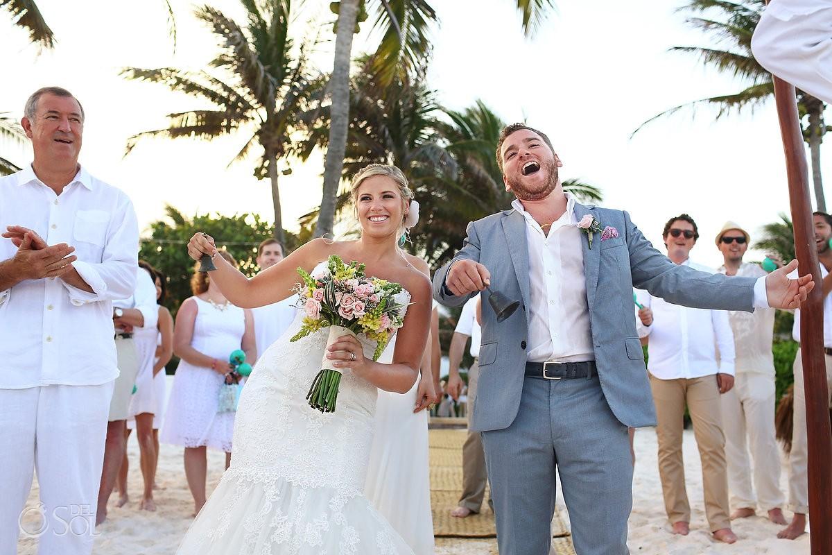Beach wedding Mayan ceremony Esencia Riviera Maya