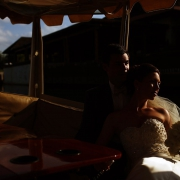 Fairmont Mayakoba Wedding Boat ride in the canals