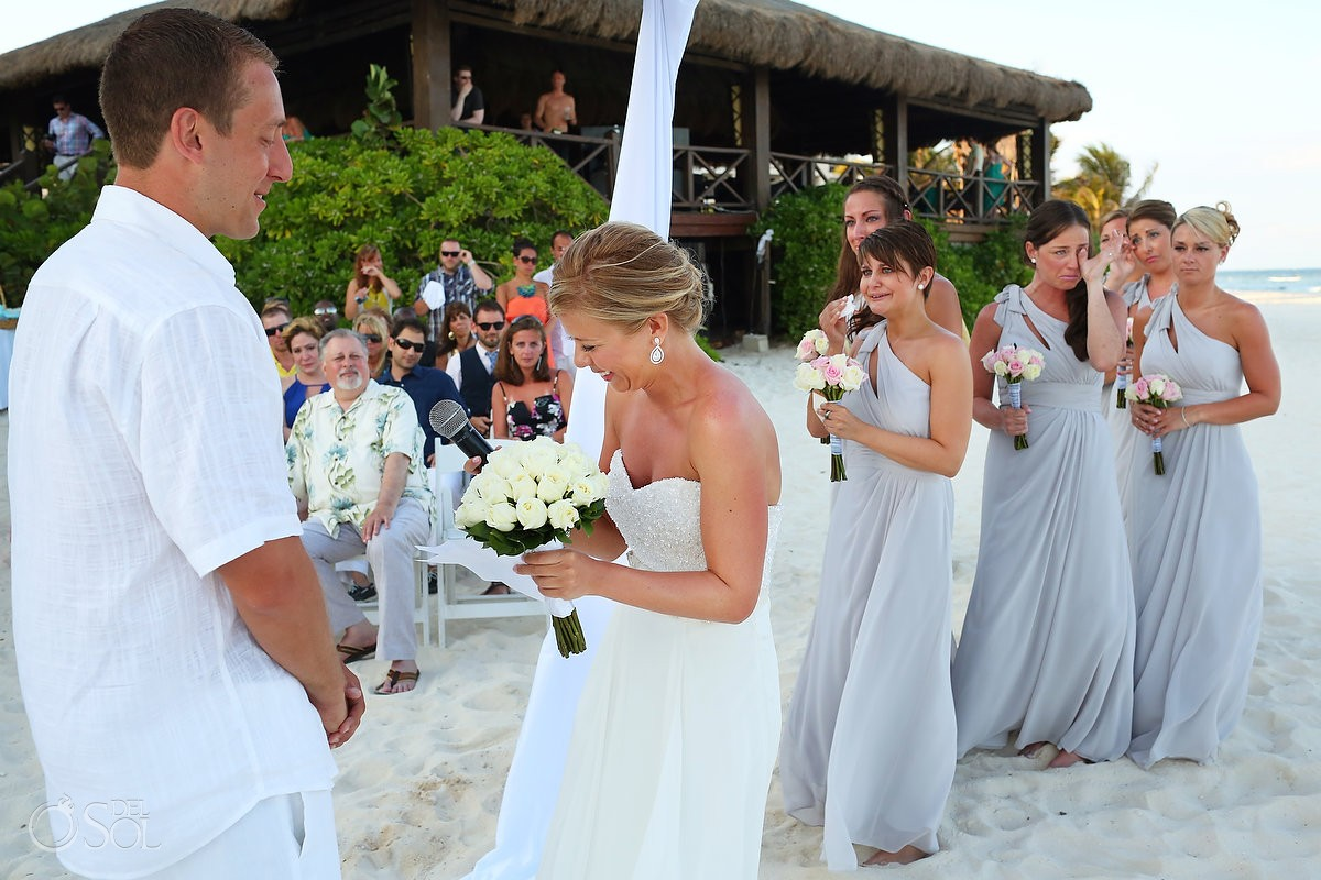 Beach wedding Riviera Maya Secrets Silversands