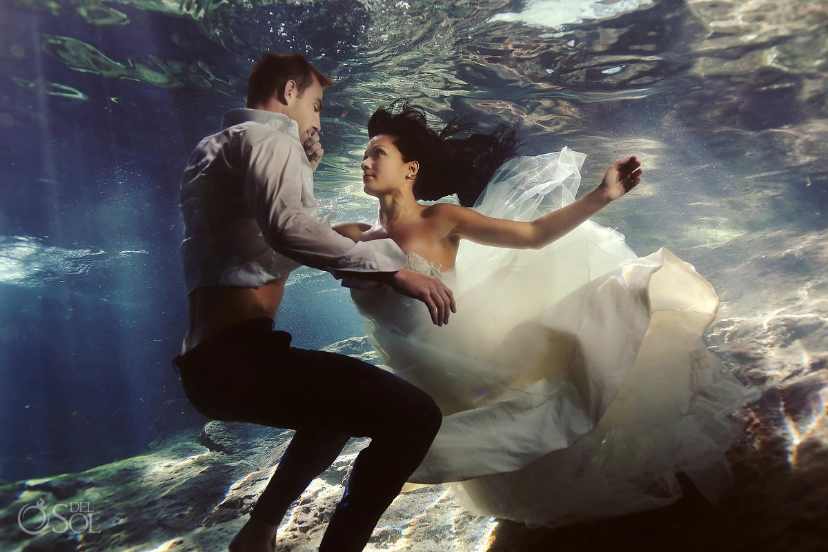 Riviera Maya Photography Cenote And Beach Trash The Dress