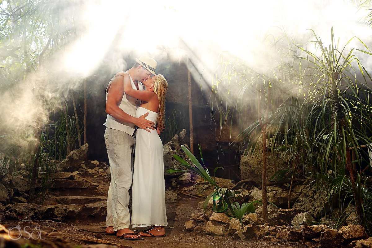 Riviera Maya photography cenote trash the dress sacred cave