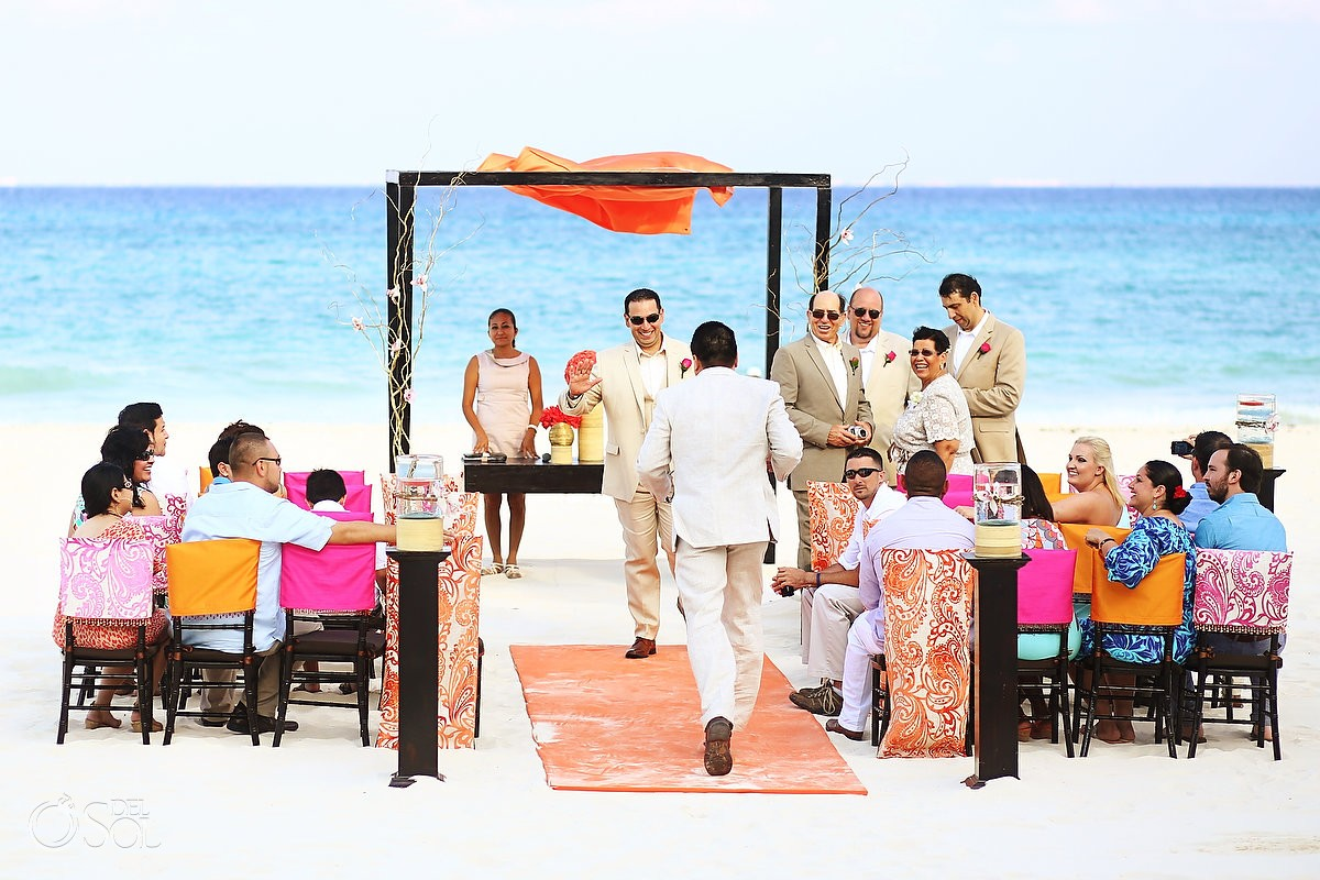 Beach wedding Playacar Palace, Playa del Carmen