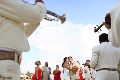 Beach wedding Playa del Carmen Playacar Palace