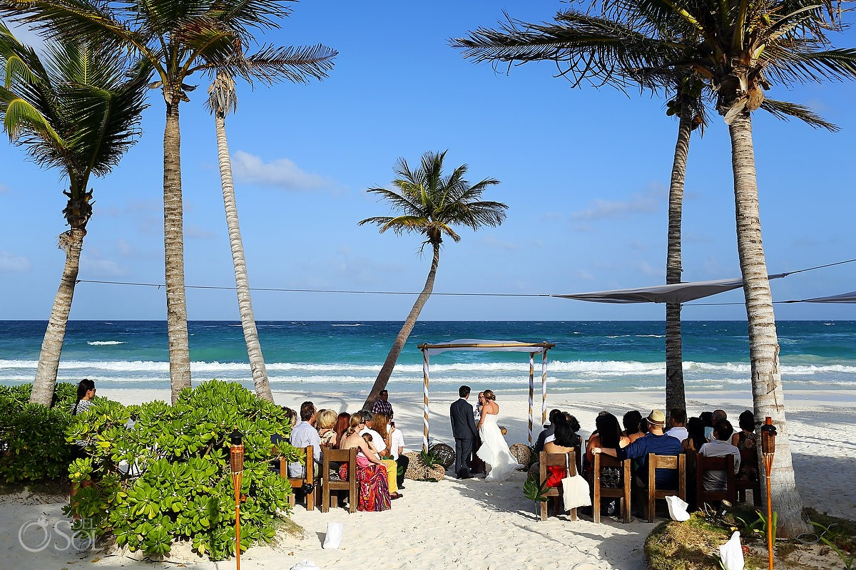 Tulum wedding ana y jose beach club judith and jon del for Best place for beach wedding