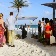 Beach wedding Tulum Ana y Jose Mexico