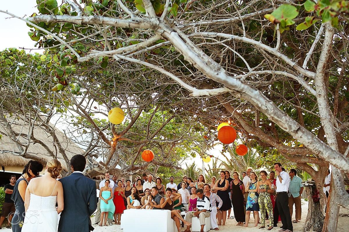 Beach Wedding Tulum Ana Y Jose Mexico