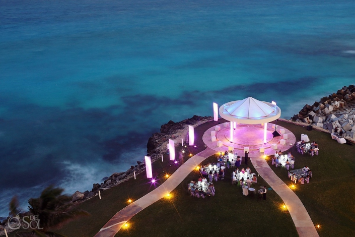 Destination wedding Hyatt Ziva Cancun Cliffside gazebo