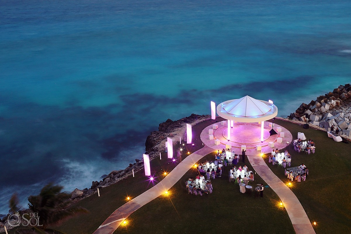 Mexico Destination Wedding Hyatt Ziva Cancun Cliffside Gazebo