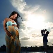 Beach maternity family portraits Playa del Carmen Riviera Maya