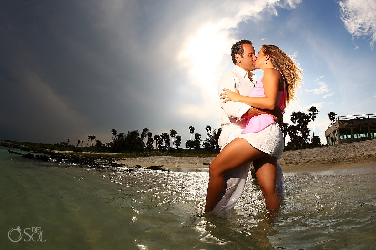 Playa del Carmen beach portrait photography Mexico