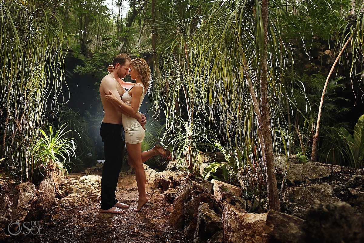 Riviera Maya photography cenote trash the dress Mexico