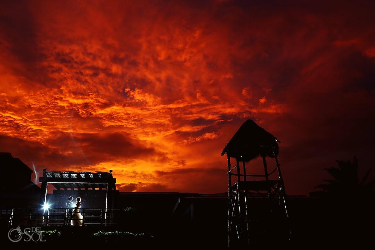 Riviera Maya wedding sunset award-winning photo Del Sol Photography